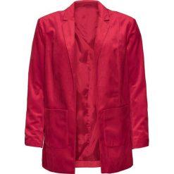 Żakiet aksamitny bonprix ciemnoczerwony. Czerwone żakiety damskie bonprix. Za 149.99 zł.