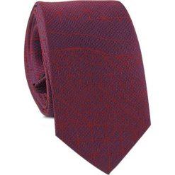 Krawat KWAR001454. Czerwone krawaty i muchy Giacomo Conti, z aplikacjami, z tkaniny. Za 69.00 zł.