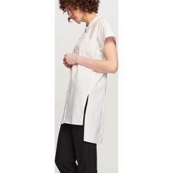 Długa koszula - Biały. Białe koszule damskie Reserved, z długim rękawem. Za 69.99 zł.