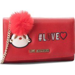 Duży Portfel Damski LOVE MOSCHINO - JC5537PP16LK0500  Rosso. Czerwone portfele damskie Love Moschino, ze skóry ekologicznej. W wyprzedaży za 369.00 zł.