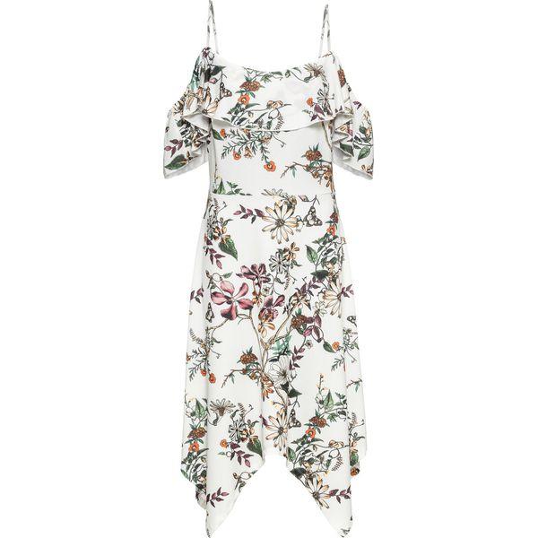 dbd5fadb47 Sukienka z falbaną bonprix biały w kwiaty - Sukienki damskie marki ...