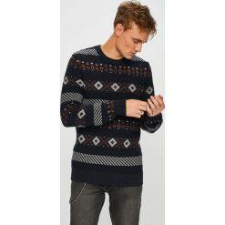 Selected - Sweter. Czarne swetry przez głowę męskie Selected, z bawełny, z okrągłym kołnierzem. W wyprzedaży za 179.90 zł.
