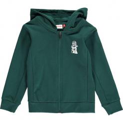 """Bluza """"Sebastian 714"""" w kolorze ciemnozielonym. Zielone bluzy dla chłopców marki Lego Wear Fashion, z nadrukiem. W wyprzedaży za 92.95 zł."""