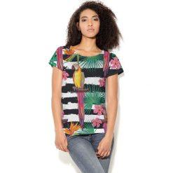 Colour Pleasure Koszulka CP-034  188 czarno-biała r. XXXL/XXXXL. T-shirty damskie Colour Pleasure. Za 70.35 zł.