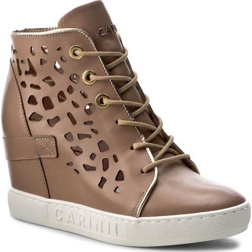 fcb8bb3bc662 Sneakersy CARINII - B4027 O J98-J16-000-B88 - Brązowe półbuty ...