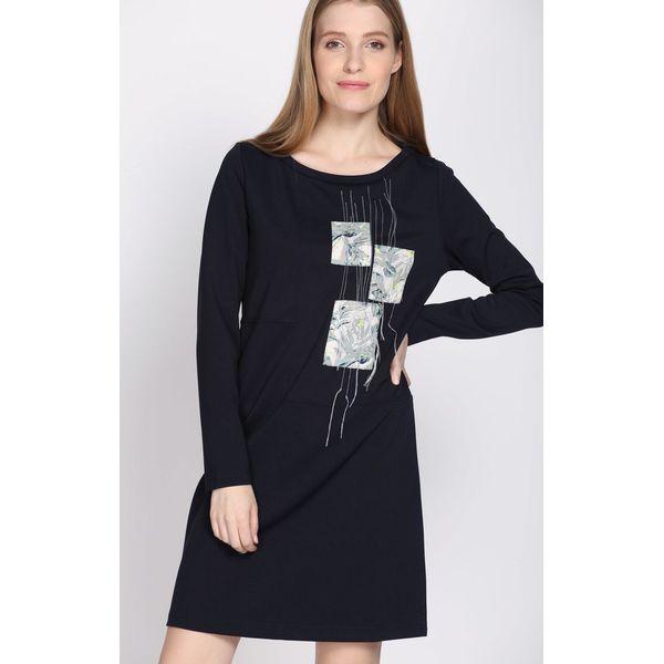 2253f406a5 Granatowa Sukienka Lower Rung - Niebieskie sukienki damskie marki ...