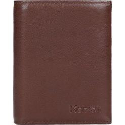 Brązowy portfel męski. Brązowe portfele męskie Kazar, z materiału. W wyprzedaży za 173.00 zł.