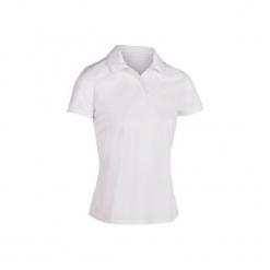 Koszulka tenisowa Essential 100 damska. Białe t-shirty damskie ARTENGO, z materiału. Za 19.99 zł.