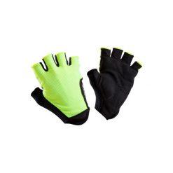 Rękawiczki na rower ROADR 500. Żółte rękawiczki damskie B'TWIN, z materiału. Za 29.99 zł.