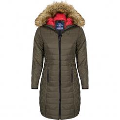 Płaszcz zimowy w kolorze khaki. Brązowe płaszcze damskie Giorgio di Mare, na zimę, z materiału. W wyprzedaży za 347.95 zł.