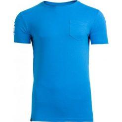 T-shirt męski TSM603 - niebieski - Outhorn. Niebieskie t-shirty męskie Outhorn, na lato, z bawełny. W wyprzedaży za 24.99 zł.