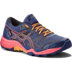 Buty ASICS - Gel-FujiTrabuco 6 G-TX GORE-TEX T7F5N Blue Print/Black 400. Niebieskie obuwie sportowe damskie Asics, z gore-texu. W wyprzedaży za 429.00 zł.