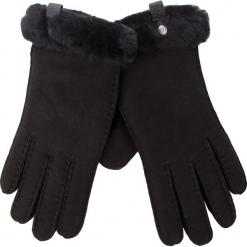 Rękawiczki Damskie UGG - W Shorty Glove W/Leather Trim 17367 Black. Czarne rękawiczki damskie UGG, ze skóry. Za 559.00 zł.