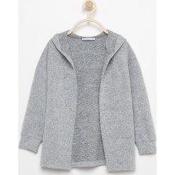 Sweter z kapturem - Jasny szar. Szare swetry dla dziewczynek Reserved, z kapturem. Za 139.99 zł.