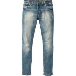 """Dżinsy ze stretchem Skinny Fit Straight bonprix niebieski """"medium bleached"""". Jeansy męskie marki bonprix. Za 109.99 zł."""