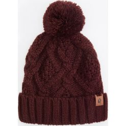 Czapka - Bordowy. Czerwone czapki i kapelusze męskie Reserved. Za 49.99 zł.