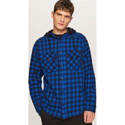 Koszula w kratę - Granatowy. Niebieskie koszule damskie Reserved. W wyprzedaży za 39.99 zł.