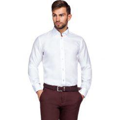 Koszula Biała Almeria 3. Białe koszule męskie LANCERTO, z haftami, z bawełny, z klasycznym kołnierzykiem. Za 299.90 zł.