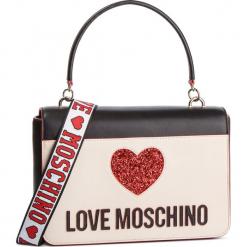 Torebka LOVE MOSCHINO - JC4115PP17L3100A Nero/Avorio. Brązowe torebki do ręki damskie Love Moschino, ze skóry ekologicznej. Za 839.00 zł.