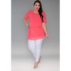 3c883e46be Lekka zwiewna szyfonowa tunika oversize duże rozmiary NOWOŚĆ. Bluzki damskie  marki Moda Size Plus Iwanek