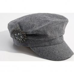 Czapka bretonka z wełną - Szary. Szare czapki i kapelusze damskie Mohito, z wełny. Za 49.99 zł.