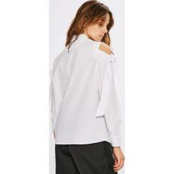 Jacqueline de Yong - Koszula Taylor. Szare koszule damskie Jacqueline de Yong, w paski, z bawełny, casualowe, z klasycznym kołnierzykiem, z długim rękawem. W wyprzedaży za 49.90 zł.