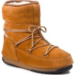Śniegowce MOON BOOT - Low Suede Wp 24008300004 Whisky. Brązowe śniegowce i trapery damskie Moon Boot, z materiału. Za 779.00 zł.