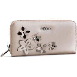 Duży Portfel Damski NOBO - NPUR-E0020-C000 Perłowy. Brązowe portfele damskie Nobo, ze skóry ekologicznej. W wyprzedaży za 99.00 zł.