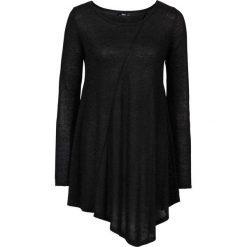 Sweter z błyszczącą nitką, długi rękaw bonprix czarny - metaliczny srebrny. Swetry damskie marki bonprix. Za 89.99 zł.