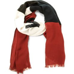 Szal TOMMY JEANS - Thd Colorblock Scarf AW0AW05109 901. Czerwone szaliki męskie Tommy Jeans, z bawełny. W wyprzedaży za 159.00 zł.