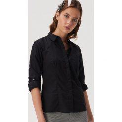 Długa koszula Czarny Czarne koszule damskie Sinsay, m