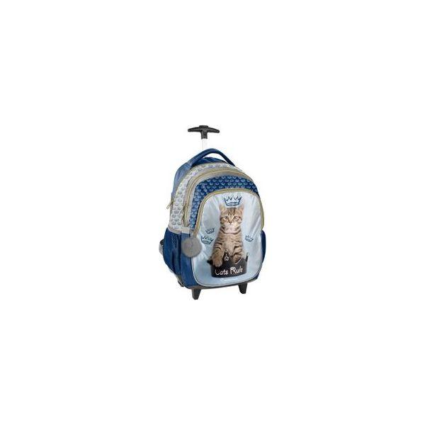 0cf9aab31ed39 Plecak szkolny na kółkach z kotkiem w koronie, Paso - Torby i ...
