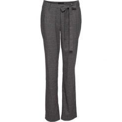Spodnie ze stretchem w kratę bonprix szaro-beżowy w kratę. Szare spodnie materiałowe damskie bonprix. Za 79.99 zł.