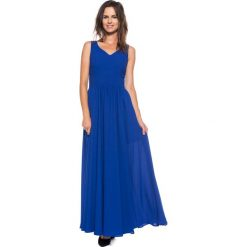 Szafirowa sukienka maxi BIALCON. Niebieskie sukienki damskie BIALCON, wizytowe. W wyprzedaży za 172.00 zł.