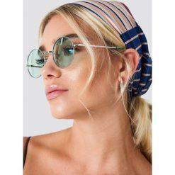 NA-KD Accessories Okrągłe okulary przeciwsłoneczne - Green,Silver. Okulary przeciwsłoneczne damskie marki QUECHUA. W wyprzedaży za 26.47 zł.