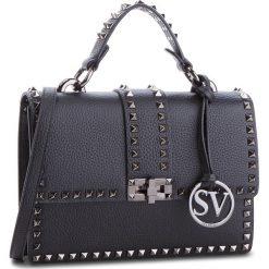 Torebka SCA'VIOLA - T-19 Black. Czarne torebki do ręki damskie Sca'viola, ze skóry. Za 399.00 zł.