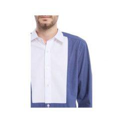 KOSZULA MĘSKA MBEP_K46. Niebieskie koszule męskie Blue eye pop, z klasycznym kołnierzykiem, z długim rękawem. Za 249.00 zł.