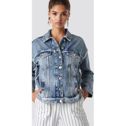 MANGO Kurtka jeansowa Urban - Blue. Niebieskie kurtki damskie Mango, z jeansu. Za 202.95 zł.
