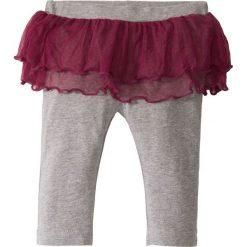 Legginsy niemowlęce z tiulową spódniczką, bawełna organiczna bonprix jasnoszary melanż - jeżynowy. Legginsy dla dziewczynek marki bonprix. Za 21.99 zł.