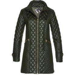 Płaszcz pikowany bonprix nocny oliwkowy. Zielone płaszcze damskie bonprix, eleganckie. Za 149.99 zł.