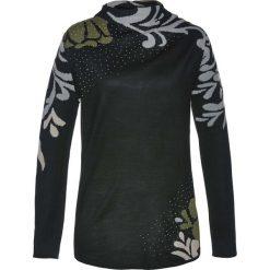 Sweter bonprix czarno-ciemnooliwkowy. Swetry damskie marki bonprix. Za 109.99 zł.