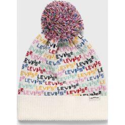 Levi's - Czapka. Szare czapki i kapelusze damskie Levi's. Za 129.90 zł.