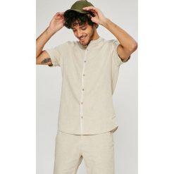 Medicine - Koszula Basic. Szare koszule męskie MEDICINE, z bawełny, ze stójką, z krótkim rękawem. W wyprzedaży za 59.90 zł.